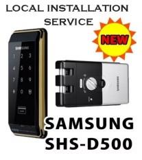 SAMSUNG EZON-kunci Pintu Digital Smart SHS D500 Kait ~ Tanpa Kunci Door Rubber Layanan