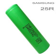 Jual Samsung Inr 18650 25R Li Ion Battery 2500Mah 3 7V With Flat Top Satu Set