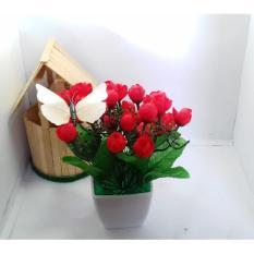 Bunga Hiasan Meja Dan Rumah Bunga Pajangan Artifisial Hiasan Ruang ... e14c39e588