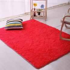 Sanwood® Flokati berbulu ruang anti selip karpet 80 cm x 160 cm - Merah
