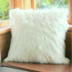 Sarung Bantal Bulu Korea Putih Uk 40X40 Sarung Bantal Sofa Diskon 50