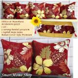 Jual Sarung Bantal Sofa Kursi Tamu Mewah Shabby Chic Manohara Maroon Gold Antik