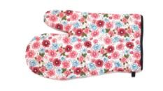 Sarung tangan anti panas Merah Bunga