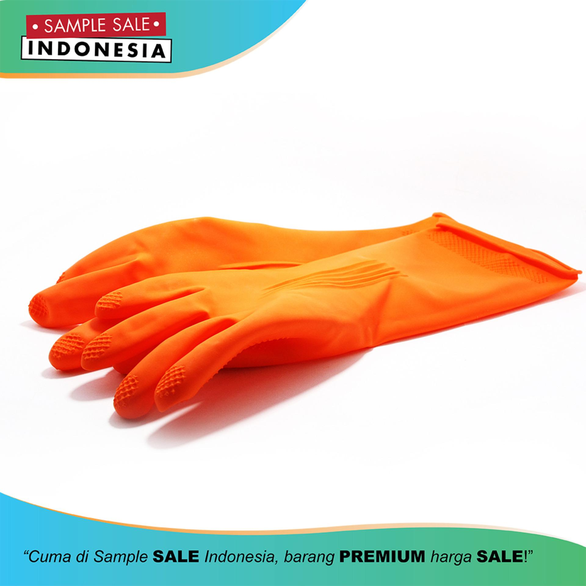Cheapest Price Sarung Tangan/House Hold Gloves Latex Orange Premium Young Young 7.5 INCH (