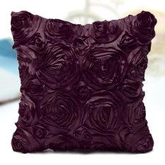 Spesifikasi Satin Rose Flower Floral Square Throw Case Cover Cushion Sofa Pillow Case Uk Purple Paling Bagus