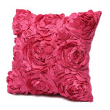 Toko Satin Rose Flower Floral Square Throw Case Cover Cushion Sofa Pillow Case Uk Rose Red Online Hong Kong Sar Tiongkok