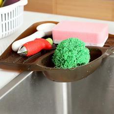 Menghemat ruang multifungsi wastafel dapur rak penyimpanan sabun tahan segitiga penyelenggara dudukan kotak (kopi)- International