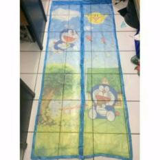 Jual Sc Tirai Pintu Magnet Anti Nyamuk Motif Doraemon Antik