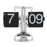 Ulasan Skala Auto Flip Stand Tunggal Meja Meja Jam Alarm Home Gift