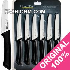 SCANPAN Spectrum Steak Knives Set Black - 6pcs