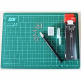 Harga Sdi Craft Sets Cutting Mat A4 Pen Type Cutter Asli
