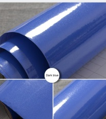 SDP Glossy DIY Dekoratif Film PVC Self Adhesive Wall Paper Furniture Renovasi Wall Stiker Dapur Kabinet Waterproof Wallpaper-Internasional