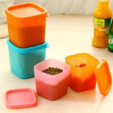 Tertutup Rak Kulkas Plastik Makanan Penyimpanan Kotak Wadah Pelestarian Dapur Persediaan-Intl