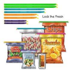 Ulasan Mengenai Sealer Klip Tongkat Set Untuk Tea Snack Gula Chips Sayuran Segar Bag Jauhkan Air Tight Water Tight Mudah Digunakan Full Reusable 16 Pcs Intl