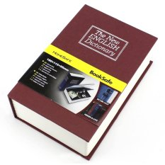 Security Dictionary Cash Metal Jewelry Key Lock Book Storage S Size - Merah By Amanah Kasih.