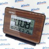Seiko Alarm Clock Qhl068 L B Calendar Thermometer Jam Weker Digital Seiko Diskon