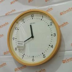 Seiko Wall Clock Qxa437B Wood Case Jam Dinding Seiko Qxa437 Asli