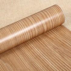 Diri Perekat PVC Stiker Wood Biji-bijian Dinding Kertas Film Stiker untuk Perabotan Rumah Tangga DIY Mudah Diinstal Tanpa Mess 10 M Spesifikasi: a05 LUCKY-G-Internasional
