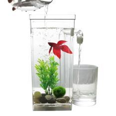 Self Cleaning Plastik Tangki Ikan Desktop Aquarium Betta Fishbowl untuk Kantor Dekorasi Rumah-Internasional