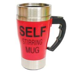 Jual Self Stirring Mug Merah Self Stirring Ori