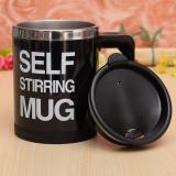 Harga Self Stirring Mug Stainless Gelas Pengaduk Otomatis Stainless Hitam Online Indonesia
