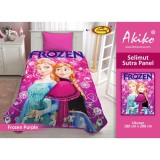 Jual Selimut Akiko Sutra Panel 150X200 Frozen Purple