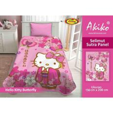 Selimut Akiko Sutra Panel 150x200 Hello Kitty Butterfly
