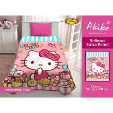 Selimut Akiko Sutra Panel 150x200 Hello Kitty Cake