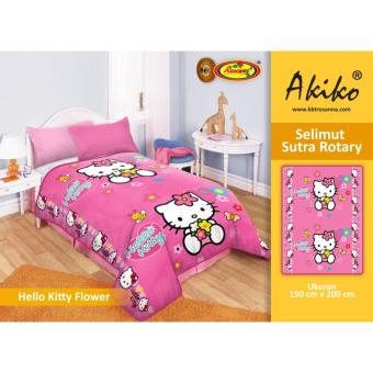 Selimut Akiko Sutra Rotary 150x200 Hello Kitty Flower