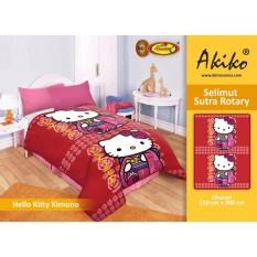 Toko Selimut Akiko Sutra Rotary 150X200 Hello Kitty Kimono Terlengkap Di Jawa Barat