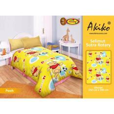 Toko Selimut Akiko Sutra Rotary 150X200 Pooh Termurah