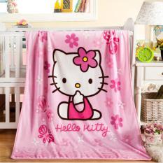 Selimut Bayi / Baby Karakter Hello Kitty Panel 100 x 140 Pinggir List Jahit
