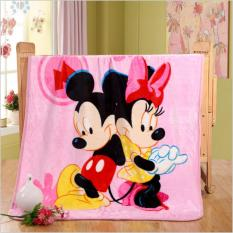 Beli Selimut Bayi Baby Karakter Mickey Mouse Panel 100 X 140 Pinggir List Jahit Hnk