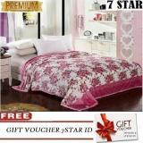 Spesifikasi Selimut Bulu Dewasa Lucky Blanket Super Premium 180X200 750 Gram Motif Bunga Merah Free Tas Selimut Bagus