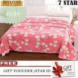Jual Selimut Bulu Dewasa Lucky Blanket Super Premium 180X200 750 Gram Pink Flower Free Tas Selimut Grosir