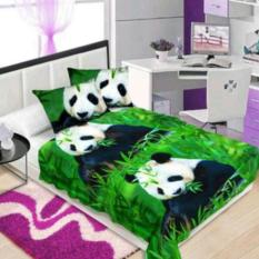 Selimut Flanel Motif Panda 3D Kualitas Import ukr 150x200
