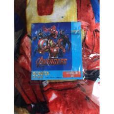 Jual Selimut Halus Bonita Motif Avenger Branded Original