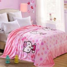Selimut Motif Hello Kitty 3D Kualitas Import ukr 150x200