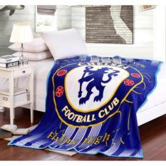 Selimut Motif Klub Bola Chelsea Bulu Flanel Halus 150 x 200