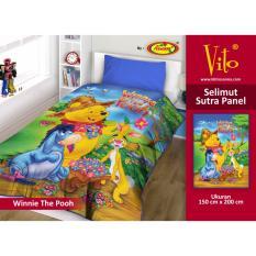 Spesifikasi Selimut Pooh New Vito Sutra Panel 150X200 Lengkap Dengan Harga