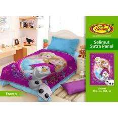 Harga Selimut Rosanna Sutra Panel 150X200 Frozen Satu Set