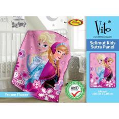 Selimut Vito Kids Sutra 100x140 Frozen Flower