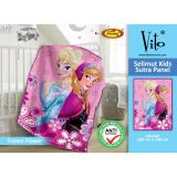 Review Toko Selimut Vito Kids Sutra Panel 100X140 Frozen Flower