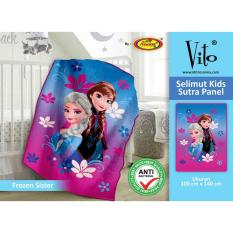 Beli Selimut Vito Kids Sutra Panel 100X140 Frozen Sister Vito Selimut Dengan Harga Terjangkau