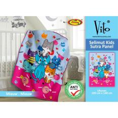 Toko Selimut Vito Kids Sutra Panel 100X140 Miaw Miaw Dekat Sini