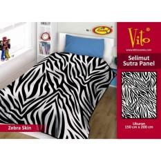Jual Selimut Vito Sutra Panel 150X200 Zebra Skin Online Jawa Barat
