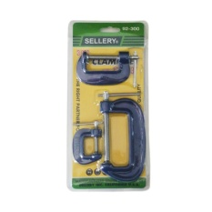 SELLERY Klem C Set 3 Pcs Penjepit Kayu C Clamp 1