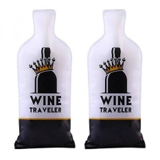 Selric Wine Traveler, Reusable & Leakproof Wine Bottle Protector Bag, Double Zip-locks, Double-Layer Bubble Wraps & Tough PVC Outer, Best Choice for Checked-in Luggage - intl