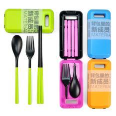 Harga Sendok Makan Travel Alat Makan Portable Sendok Garbu Sumpit Branded