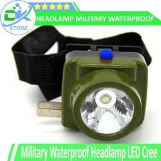 SENTER KEPALA Military Waterproof Headlamp LED Cree, WATERPROOF AMAN